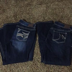 2 pairs Maurices straight leg jeans new 18 short